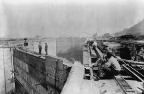 Panama Canal construction site