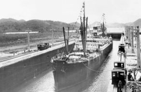 SS Ancon in Panama Canal